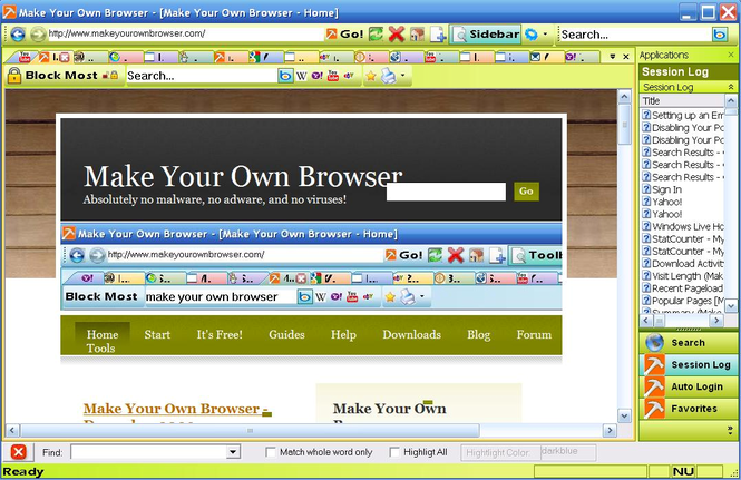 Make Your Own Browser Screenshot 1