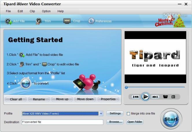 Tipard iRiver Video Converter Screenshot 2