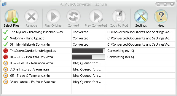 AllMusicConverter Screenshot