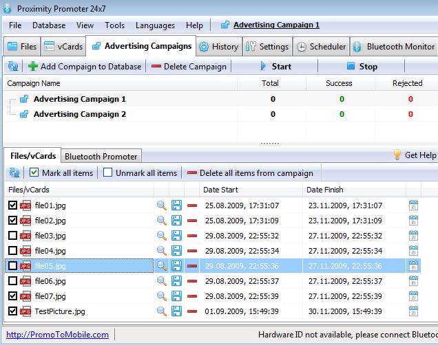 Proximity Promoter 24x7 Screenshot