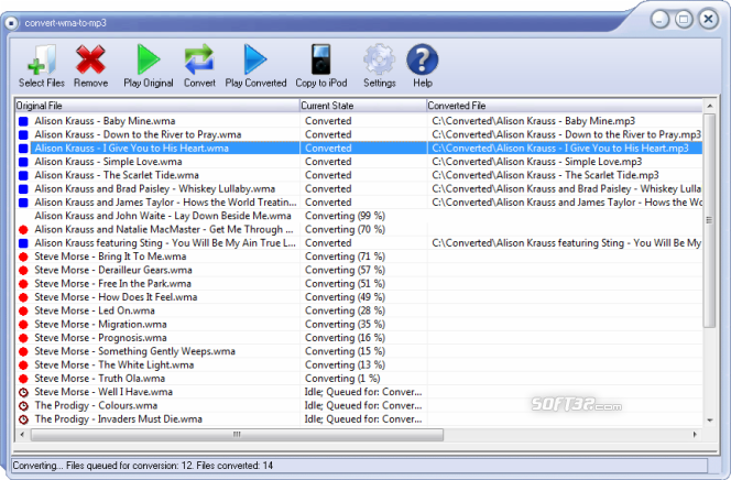 Convert-WMA-to-MP3 Professional Screenshot 1