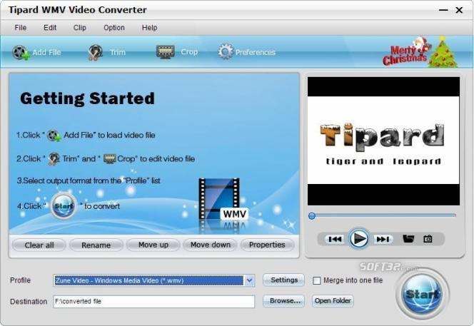 Tipard WMV Video Converter Screenshot 3