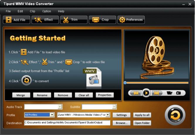Tipard WMV Video Converter Screenshot 2