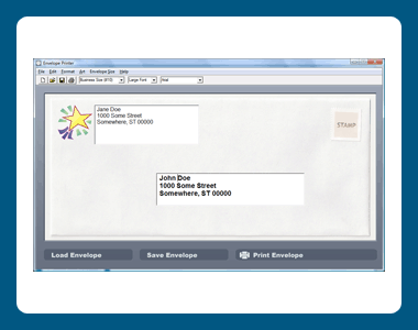 Dataware Envelope Printer Screenshot