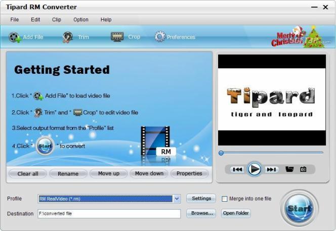 Tipard RM Converter Screenshot 3