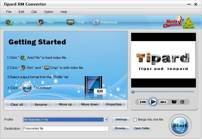 Tipard RM Converter Screenshot