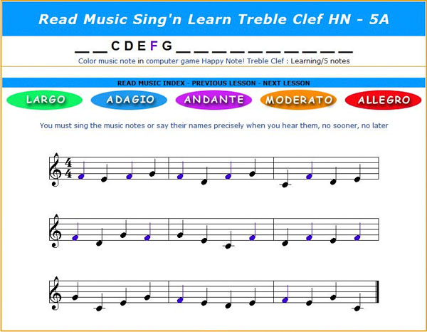 Read Music Notes Sing Learn HN Screenshot