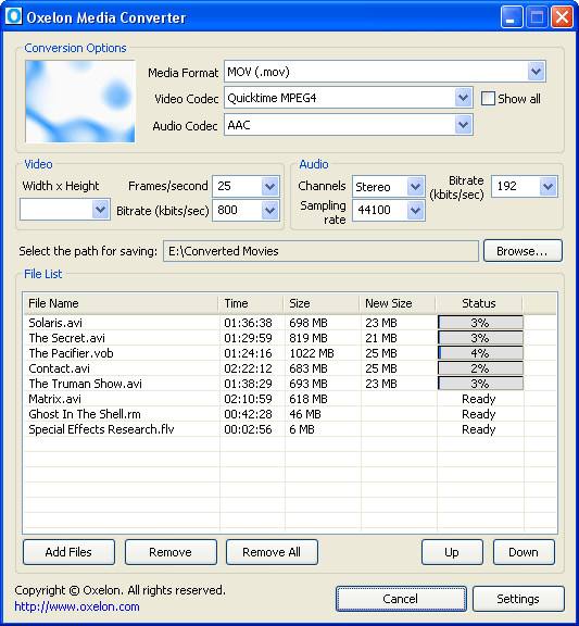 Oxelon Media Converter Screenshot 2