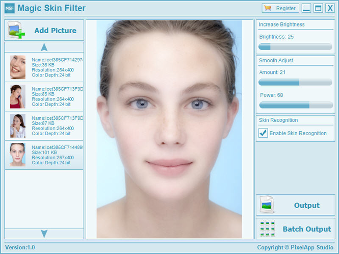 Magic Skin Filter Screenshot 1