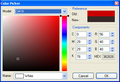 Red MiniBox Color Picker ActiveX Control 1