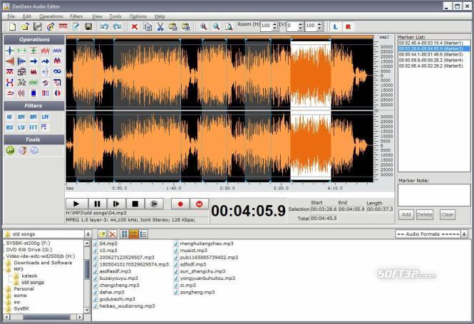 DanDans Audio Editor Screenshot 2