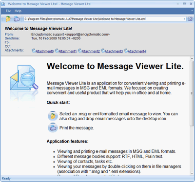 Message Viewer Lite (.msg .eml) Screenshot
