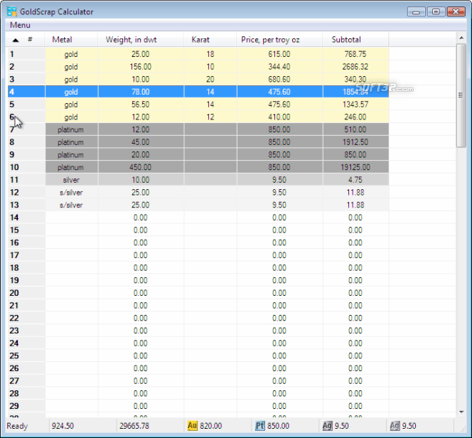 GoldScrap Calculator Screenshot 3