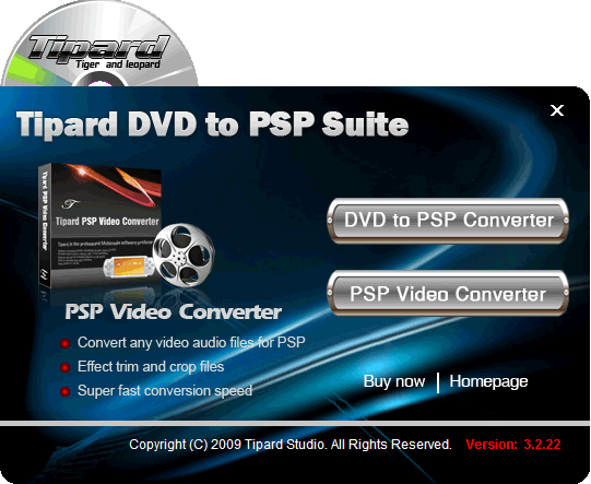 Tipard DVD to PSP Suite Screenshot