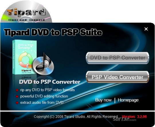 Tipard DVD to PSP Suite Screenshot 3