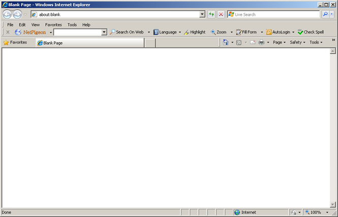 NetPigeon Toolbar for Internet Explorer Screenshot 1