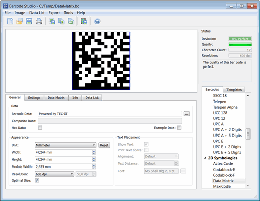 Barcode Creator Software Barcode Studio Screenshot