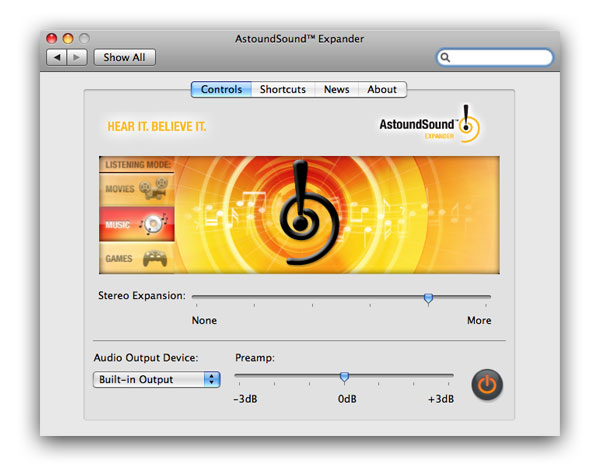 AstoundSound Expander for Mac Screenshot