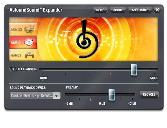 AstoundSound Expander for Windows Screenshot