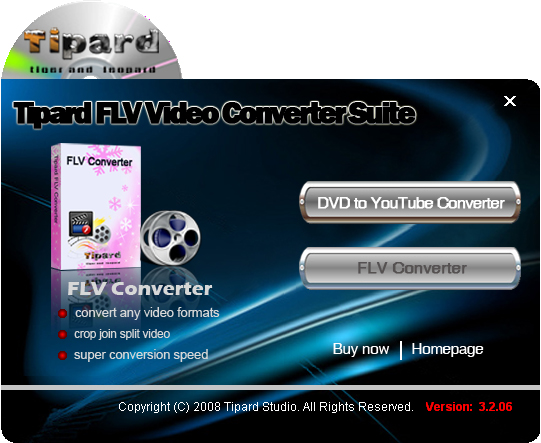Tipard FLV Video Converter Suite Screenshot 3