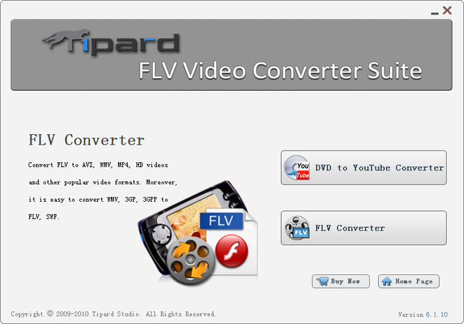 Tipard FLV Video Converter Suite Screenshot 1