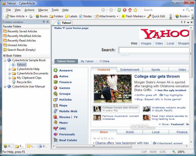 CyberArticle Screenshot 2