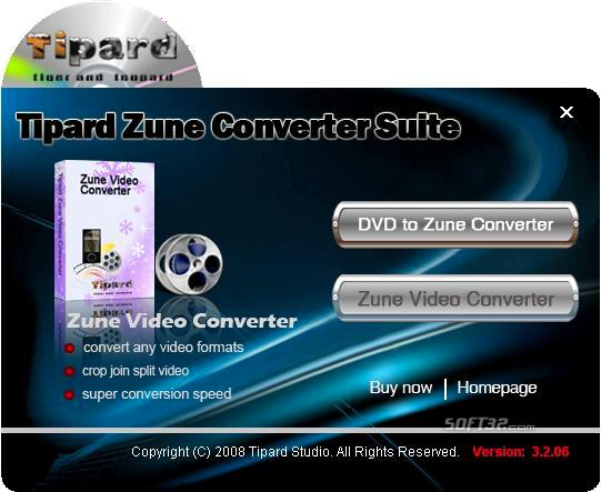 Tipard Zune Converter Suite Screenshot 3