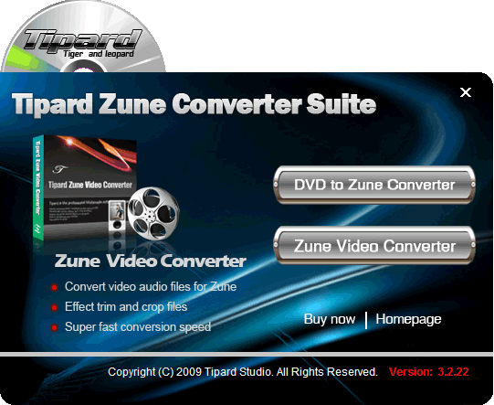 Tipard Zune Converter Suite Screenshot 2