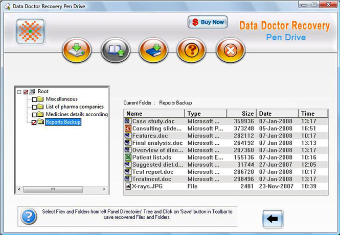 USB Flash Drive File Recovery Screenshot