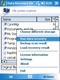 Raise Data Recovery for Mobile Screenshot