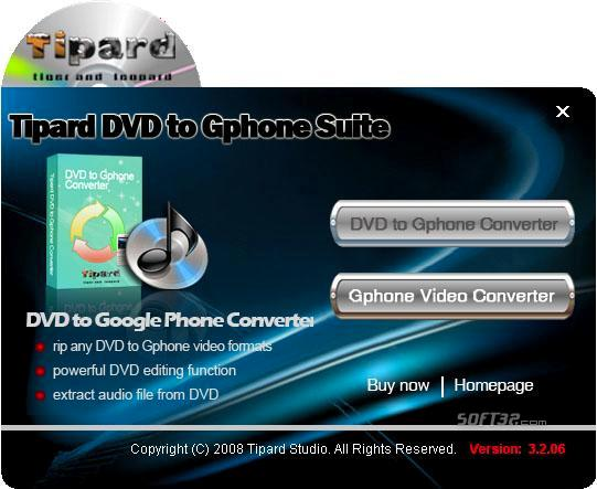 Tipard DVD to Gphone Suite Screenshot 3