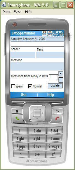 SMSSpaminator Screenshot 2