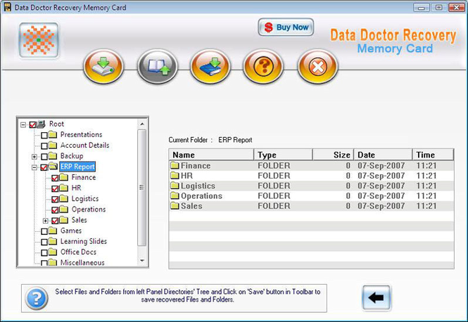 xD Memory Card Data Recovery Screenshot