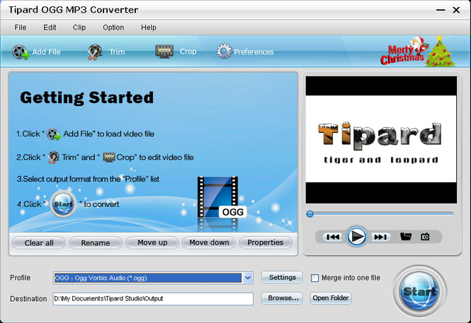 Tipard OGG MP3 Converter Screenshot