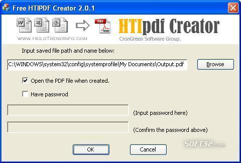 Free HTI PDF Creator Screenshot