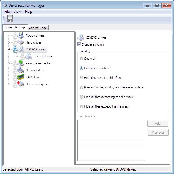 Drive Security Manager Screenshot