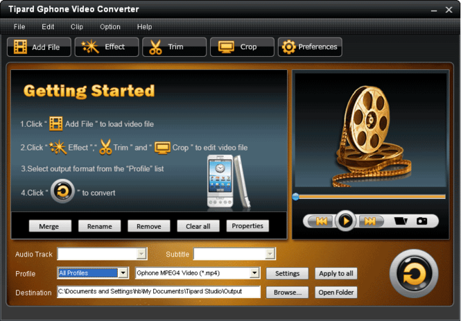 Tipard Gphone Video Converter Screenshot