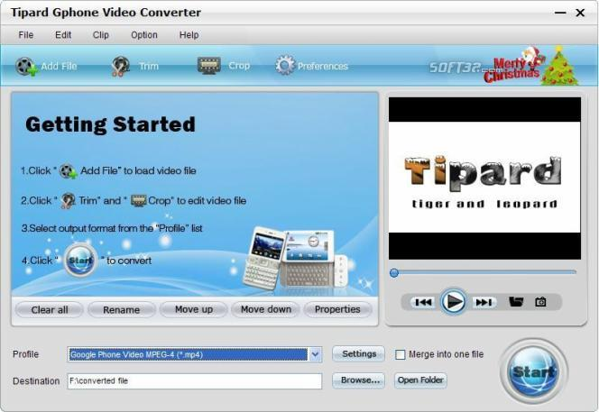 Tipard Gphone Video Converter Screenshot 3