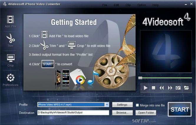 4Videosoft iPhone Video Converter Screenshot 3