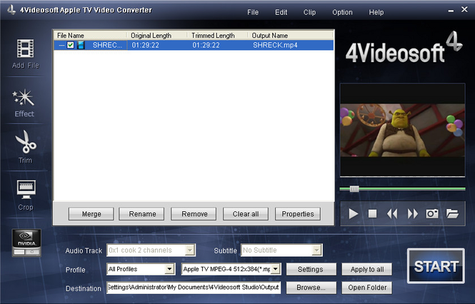 4Videosoft Apple TV Video Converter Screenshot 1