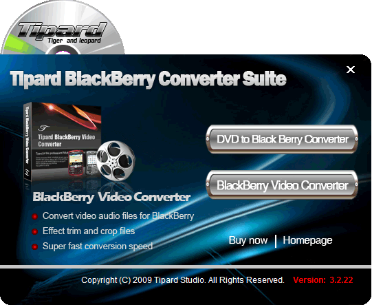 Tipard BlackBerry Converter Suite Screenshot