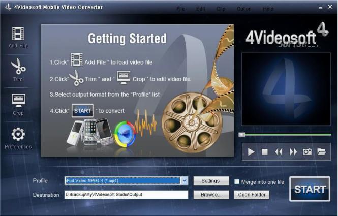 4Videosoft Mobile Video Converter Screenshot 2