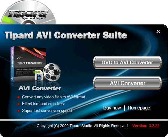 Tipard AVI Converter Suite Screenshot 1