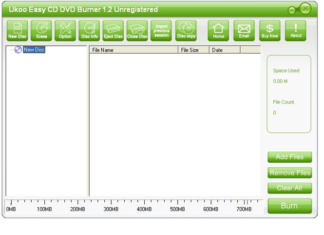 Ukoo CD/DVD Burner Screenshot