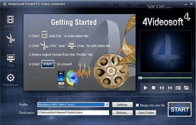 4Videosoft Pocket PC Video Converter Screenshot 2