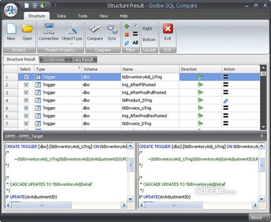 Godsw SQL Compare Screenshot 3