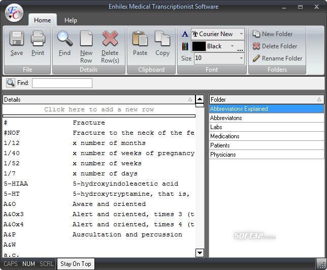 Enhilex Medical Transcription Software Screenshot 3