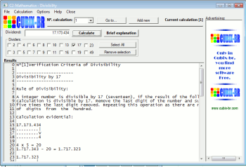 C2-Mathematics - Divisibility Screenshot