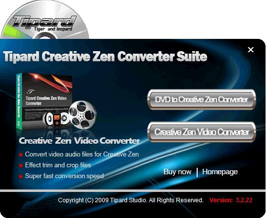 Tipard Creative Zen Converter Suite Screenshot 2