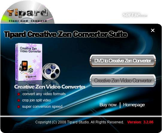 Tipard Creative Zen Converter Suite Screenshot 3